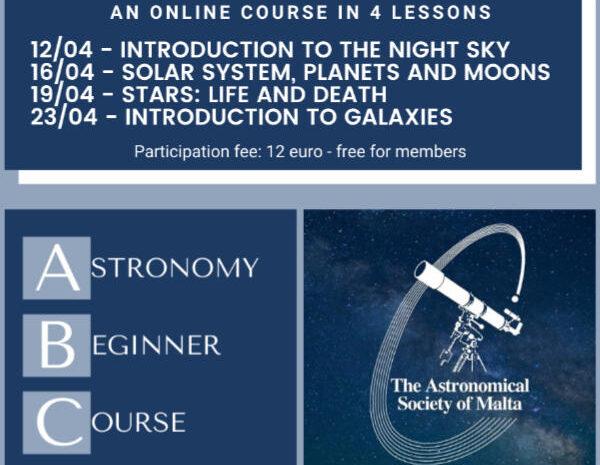 Astronomy Beginner Course – April 2021